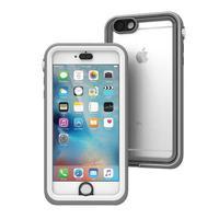 Catalyst mobile phone case: Case for iPhone 6/6s Plus, IP68, White & Mist Gray - Grijs, Transparant, Wit