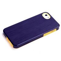 ROCK mobile phone case: Texture Double Color Protective Case Apple iPhone 5/5S/SE, Purple - Paars