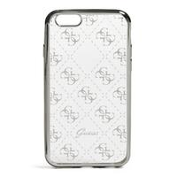 GUESS mobile phone case: Silver-Tone Quattro G iPhone 7 Case - Zilver, Transparant