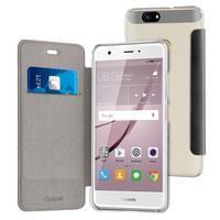 Muvit mobile phone case: Black Folio Case For Huawei Nova - Zwart, Transparant