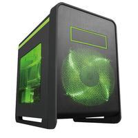 MS-Tech behuizing: CROW Q1/GR - Zwart, Groen