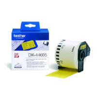 Brother etiket: DK-44605 Continuous Removable Yellow Paper Tape (62mm) - Geel