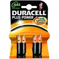 Duracell batterij: Alkaline, AAA, 1.5v, 4st - Zwart, Oranje