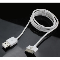 Muvit kabel: Charge&Synch Kabel SQ USB to Apple 30pin, 2.4 Ampère, 1.2m, Wit, 60 g