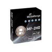 "MediaRange diskette: MR200 - 3.5"", Floppy Disc 1.44MB, 10pcs - Rood, Geel"