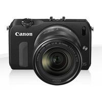 Canon digitale camera: EOS M + EF-M 18-55mm + 90EX - Zwart