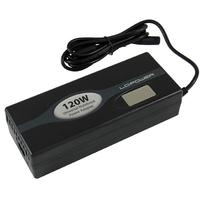 LC-Power netvoeding: Notebook Adapter, 120W, Input voltage: 110 - 240V, 2A / 11.3 - 13.6V, 15A, Input frequency: .....