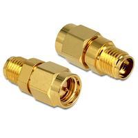 DeLOCK kabel adapter: Adapter SMA Plug > SMA Jack - Goud