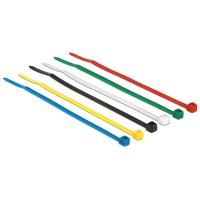 DeLOCK Cable ties coloured L 100 x W 2.5 mm 100 pieces Kabelbinder - Zwart, Blauw, Groen, Rood, Transparant, Geel