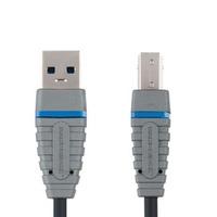 Bandridge USB kabel: 3m USB 3.0 A/B Cable - Zwart