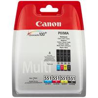Canon inktcartridge: CLI-521 C/M/Y/BK - Zwart, Cyaan, Geel, Magenta