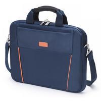 Dicota laptoptas: Slim Case BASE 12-13.3 Blue/Orange - Blauw