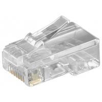 Goobay 50252, RJ45 Kabel connector - Transparant