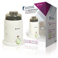 König flesverwarmer: KN-BW10, 0 - 100 °C, 145x210x145, 683 gr. - Bruin, Wit