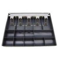 Posiflex geldkistlade: 9xCoin Compartment, 5xBanknote Compartment, Black - Zwart