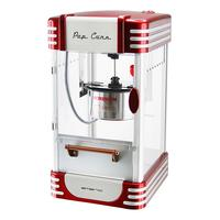 Emerio popcorn popper: 360 W, 50 g, heating, stirring, stainless iron, silver/red - Rood, Zilver
