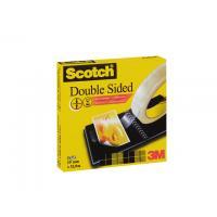 Scotch Plakband dubbelzijdig19mmx33m transparante tape