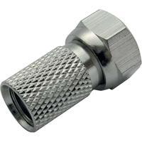 Schwaiger coaxconnector: F, 10 pcs - Zilver