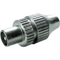 Schwaiger coaxconnector: IEC - Zilver