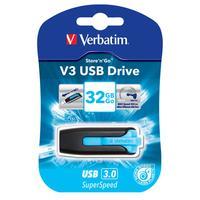 Verbatim USB flash drive: V3 32GB - Zwart, Blauw