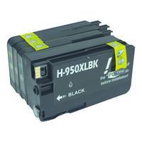 MediaRange inktcartridge: MRHP950B951C - Zwart, Cyaan, Magenta, Geel