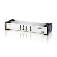 Aten KVM switch: 4 port USB Dual KVM, Support one PC with Two Display