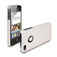 PURO iPhone 4 Cover Soft - Wit with Screen Protector