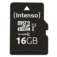 Intenso 16 GB microSDHC-kaart Class 10, UHS-I