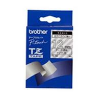 Brother labelprinter tape: Gloss Laminated Labelling Tape - 12mm, White/Clear