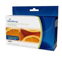 MediaRange inktcartridge: MRHP21B22C - Zwart, Cyaan, Magenta, Geel