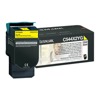 Lexmark cartridge: C544, C546, X544, X546 4K gele tonercartridge - Geel