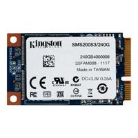 Kingston Technology SSD: SSDNow mSATA 240GB - Zwart, Blauw