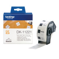 Brother labelprinter tape: Vierkant papieren label 23 mm - Wit