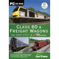 "Just Trains pc CD-ROM Class 60 "" Freight Wagons - for Railworks "" Rail Simulator Algemene utilitie"
