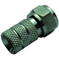 Schwaiger coaxconnector: FST8313 201 - Zilver