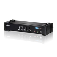Aten KVM switch: 4-Port USB 2.0 DVI KVMP Switch - Zwart