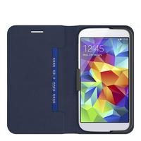 Belkin mobile phone case: Stripe Folio Case, for Samsung Galaxy S5 - Blauw, Grijs