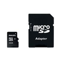 Philips Micro SD-kaarten, 16 GB, Klasse 4 Flashgeheugen - Zwart