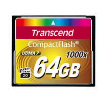 Transcend flashgeheugen: CompactFlash Card 1000x 64GB