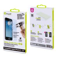 Muvit screen protector: Thick tempered glass screen Apple iPhone 6 Plus - Transparant