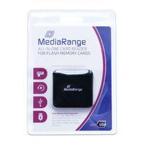 MediaRange geheugenkaartlezer: USB 2.0 All-in-One Card Reader - Zwart