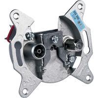 Schwaiger wandcontactdoos: F + IEC, 950 - 2150 MHz/5 - 862 MHz - Aluminium