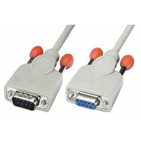 Lindy signaal kabel: 0,5m RS232 Cable - Grijs