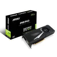MSI videokaart: GeForce GTX 1070 AERO 8GB - Zwart, Zilver