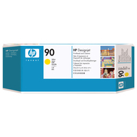 HP printkop: 90 gele DesignJet printkop en printkopreiniger - Geel