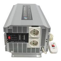 HQ netvoeding: 12V-230V 2500W - Zilver