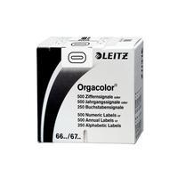 Leitz etiket: Orgacolor - Wit