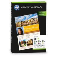 HP printerkit: 951XL Officejet value pack (C/M/Y Cartridge + 75 sheet paper) - Cyaan, Magenta, Geel