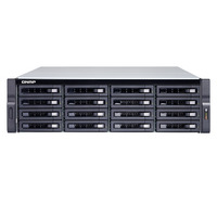 QNAP TDS-16489U R2 NAS - Zwart, Grijs