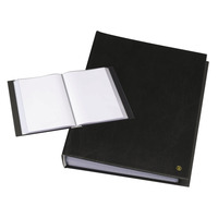 Rillstab A4, 30 pcs, generfd kunststof - Zwart